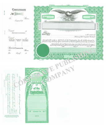Goes® 196 Green Capital Stock Certificates