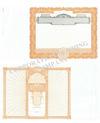 Goes® 507 Orange No Text Stock Certificates