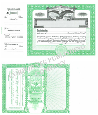 Goes® 364 Green Capital Stock Certificates