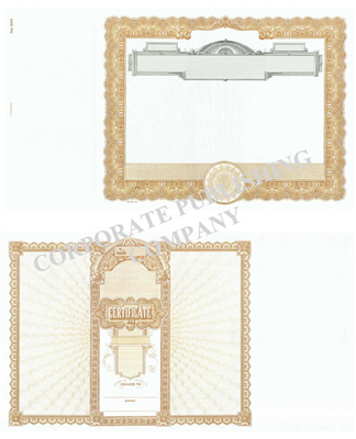 Goes® 505 Brown Panel No Text Stock Certificates
