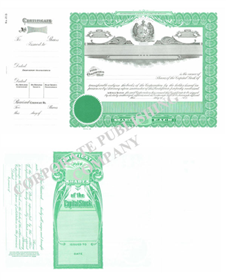 Goes® 213 Missouri State Stock Certificate