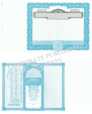 Goes® 504 Blue No Text Stock Certificates