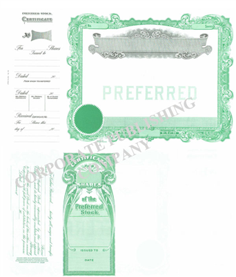 Goes® 178 Green No Text Stock Certificates