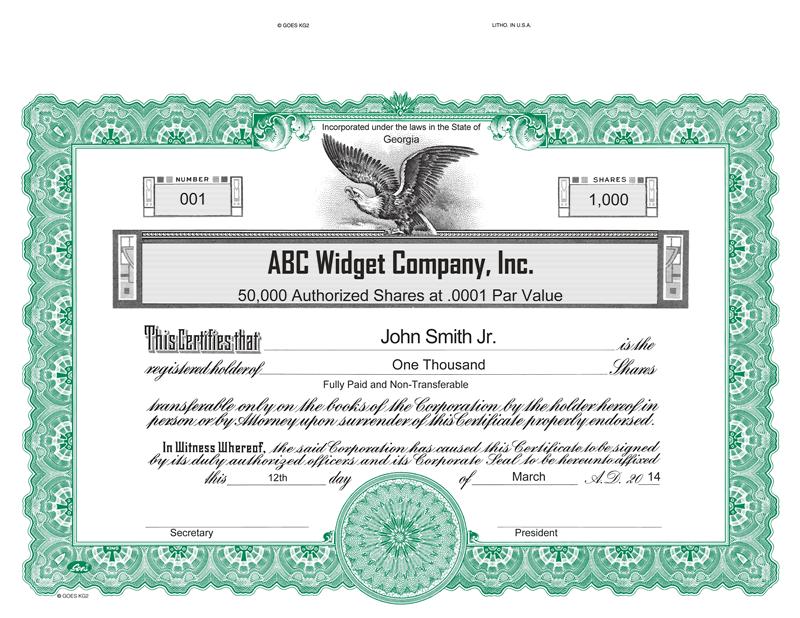 Corporate Publishiin - CustomGoes KG2 Certificates