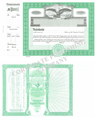 Goes® 1364CAP Eagle Capital Stock Certificates