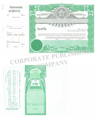 Goes® 150 Oklahoma State Capital Stock Certificates
