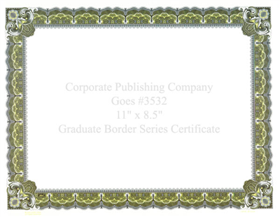 Goes® 3532 Lemonade Graduate Certificates