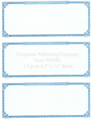 Goes® 5490BL Prism Blue Certificates