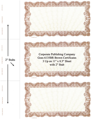 Goes® 6135BR Brown Seine Bond Stock