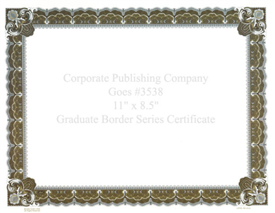 Goes® 3538 Laser Gold Graduate Certificates