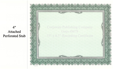 Goes® M79 Black-Green Louvre Certificate