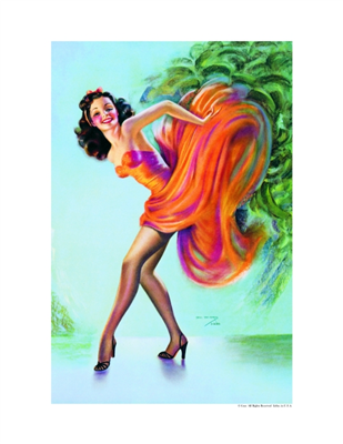 Pinup Poster - Flame Dancer