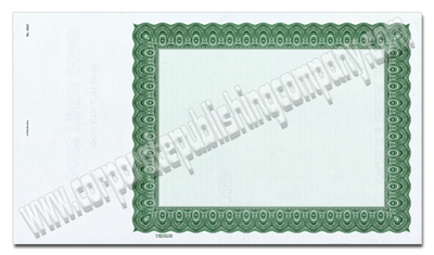 Goes® 4522 Green Harmony Certificates