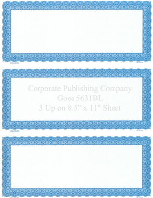 Goes® 5631BL Blue Harmony Certificates