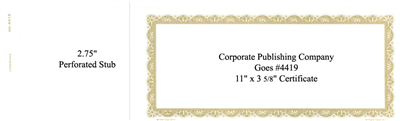 Goes® 4419 Gold Bronze Rhythm Certificates