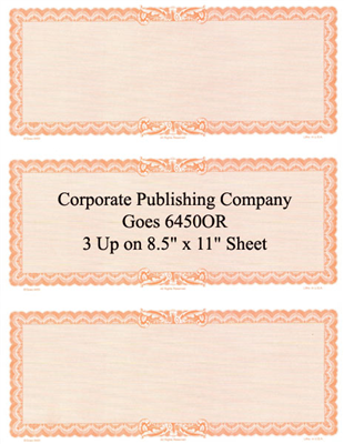 Goes® 6450OR Orange Ripple Certificates