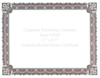 Goes® 3530 Rose Graduate Certificates