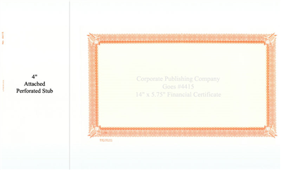 Goes® 4415  Orange Six Point Certificates
