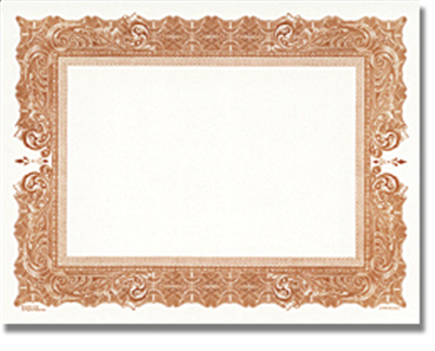Goes® Brown Antique Certificates