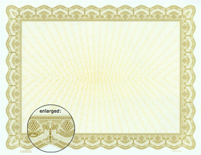 Goes® 2463 Gold Bison Certificates