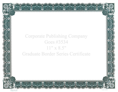 Goes® 3534 Icy Blue Graduate Certificates