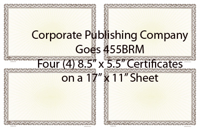 Goes® 455BR Brown Ripple Certificates