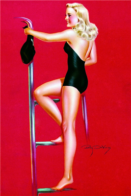 Pinup Poster - Bathing Beauty