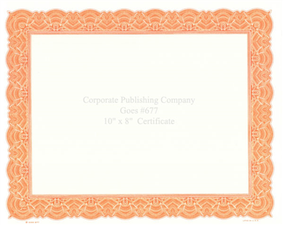 Goes® 677 Orange Big Border Certificates