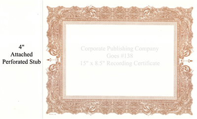 Goes® 138 Brown Antique Certificate