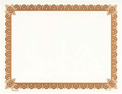 Goes® Brown Imperial Certificates