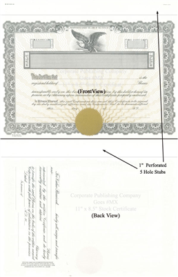 Goes® MX Gold Bronze Corporate Certificates
