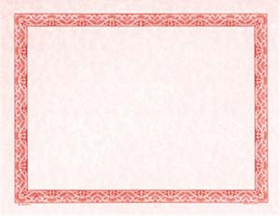 Goes® Red Parchment Certificates