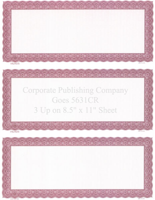 Goes® 5631CR Carmine Harmony Certificates