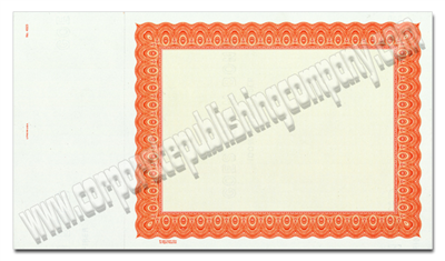 Goes® 4523 Orange Harmony Certificates