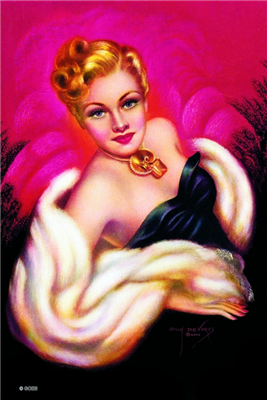 Pinup Poster - Ermine and Gold