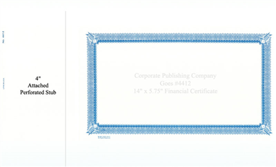 Goes® 4412 Blue Six Point Certificates