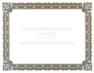 Goes® 3531 Peach Graduate Certificates