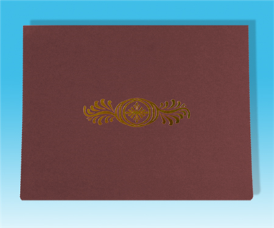 "Burgun Foil Design Certificate Holder (11"" x 8.5"")"