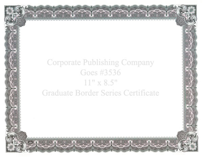 Goes® 3536 Pink Zinfendal Graduate Certificates