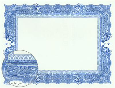 Goes® Blue Antique Certificates