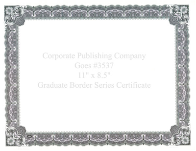 Goes® 3537 Blueberry Graduate Certificates