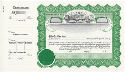 Goes® M113 Massachusetts State Stock Certificates