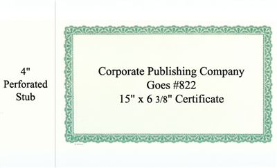 Goes® 822 Green Venue Certificates
