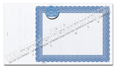 Goes® 4520 Blue Harmony Certificates