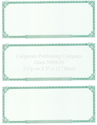 Goes® 5490GN Green Prism Certificates
