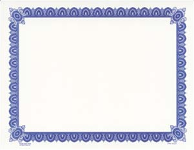 Goes® Blue Imperial Certificates