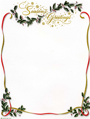 Seasons Greeting w/ Holly & Ribbons - DIY
