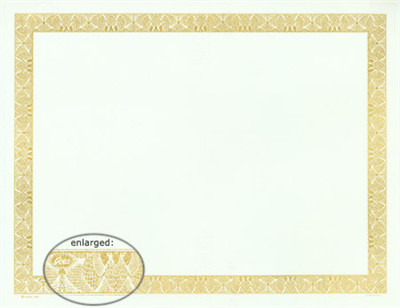 Goes® 345 Gold Bronze Diamond Certificates