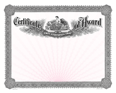Goes® 108 Black-Pink Certificate of Award