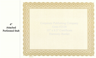 Goes® 4526 Laser Gold Harmony Certificates